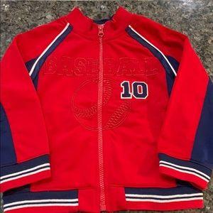 Wonderkids red baseball jacket NWT 3t boys new